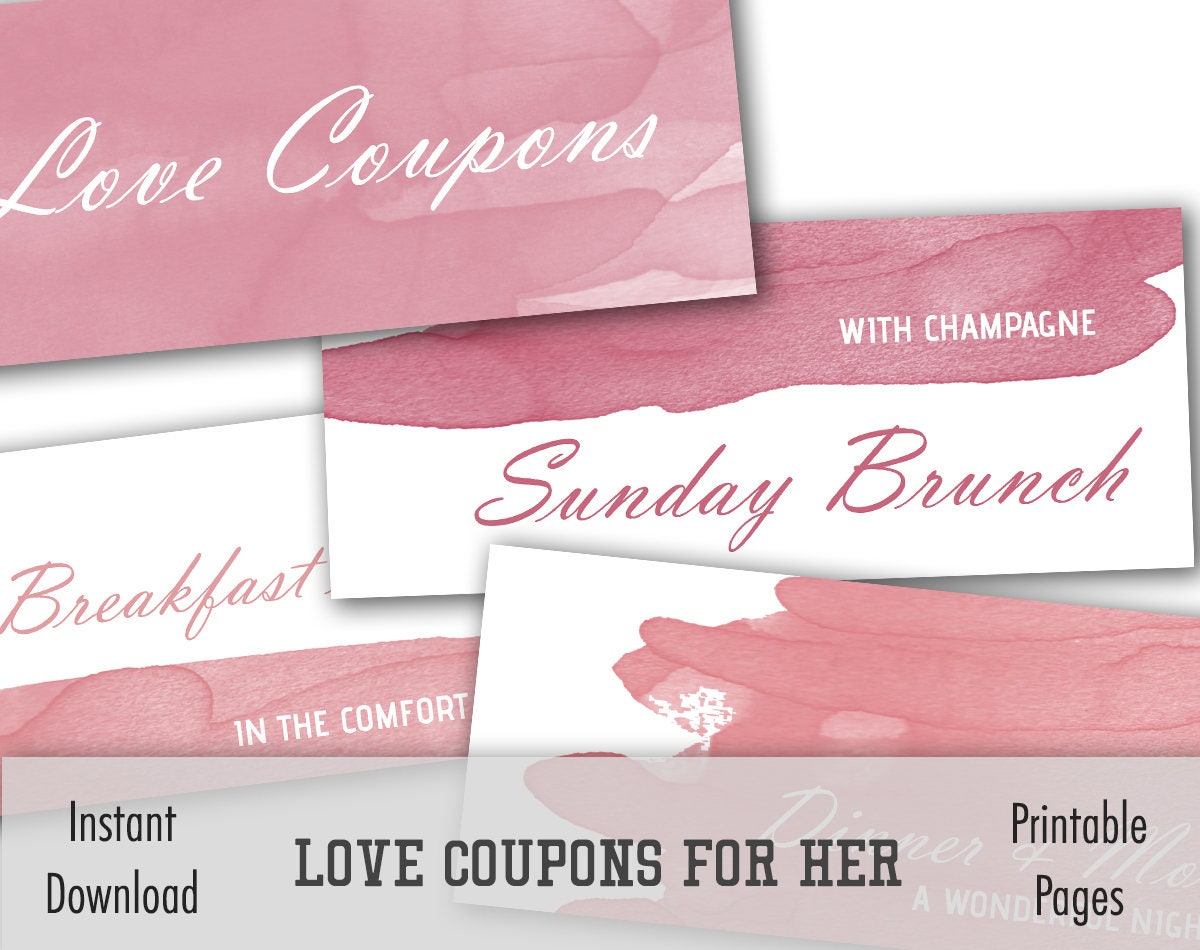 printable coupons coupons for gf diy love coupons valentines day