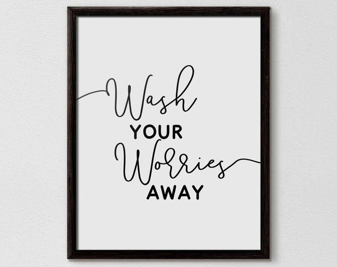 Wash Your Worries Away, Bathroom Prints, Bathroom Decor, bathroom decor pictures, bathroom decor wall, bathroom decor diy, Flamingo