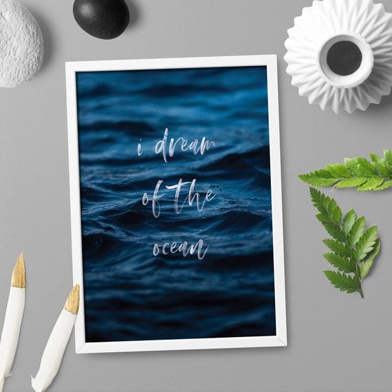 Ocean Waves Motivational Quote Home Decor Art Poster Print A4 A0 Framed