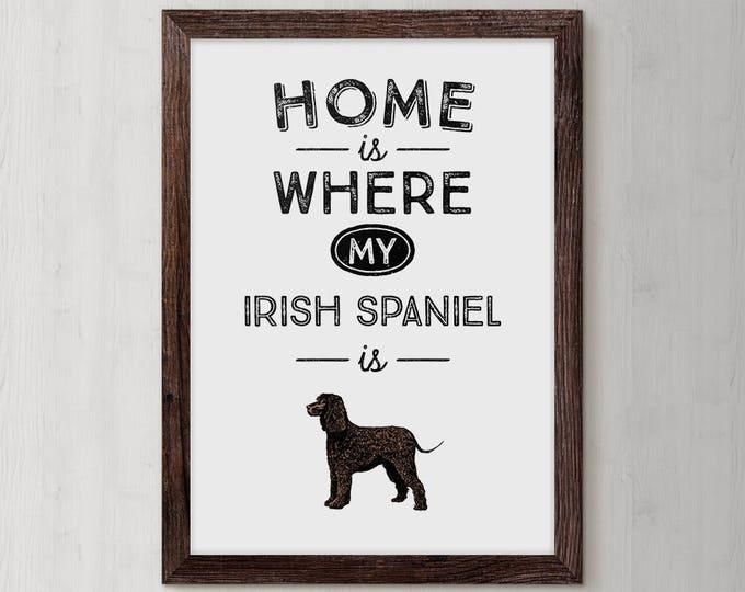 Quotes About Dogs, Dog Name Print, Custom Dog Breed, Dog Mama, Dog Sympathy Gift, Canine Gift, Custom Dog Poster, Irish Spaniel, Art Print