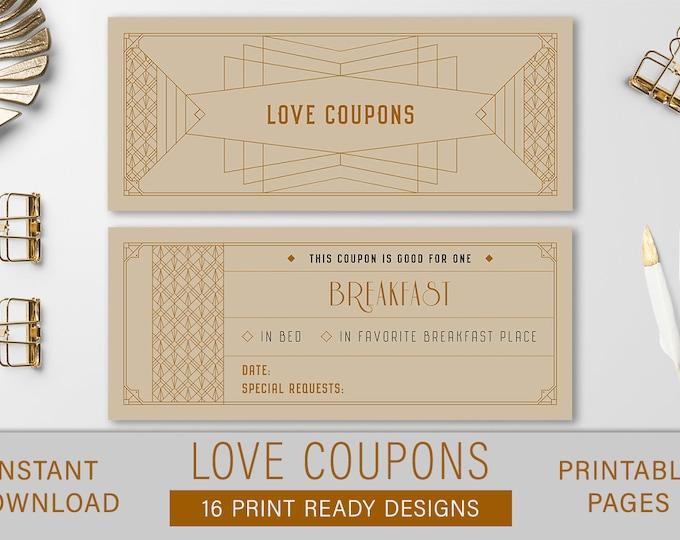 Coupon Book, Love Coupons, love coupon, love coupon book, coupon, coupon book for him, diy coupon book, printable coupon, valentine coupon