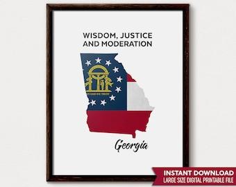 Georgia Gift, Georgia Art, Georgia State, Georgia Wall Art, Georgia Map, Georgia Print, Georgia Home, Georgia Poster, Georgia State Decor
