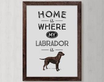 Labrador Retriever, Chocolate Labrador, Labrador Gift, Retriever, Dog Art, Chocolate Lab, Labrador, Dog, Dog Lover Gift, Lab, Dog Gift
