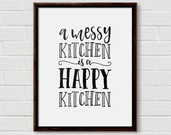 kitchen quote kitchen wall art kitchen decor messy kitchen