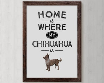 Chihuahua Print, Chihuahua Dog, Animals Lovers, Dog Digital Art, Dog Paw, Home Quote, Pet Lover, typography, dog artwork, Dog Quote