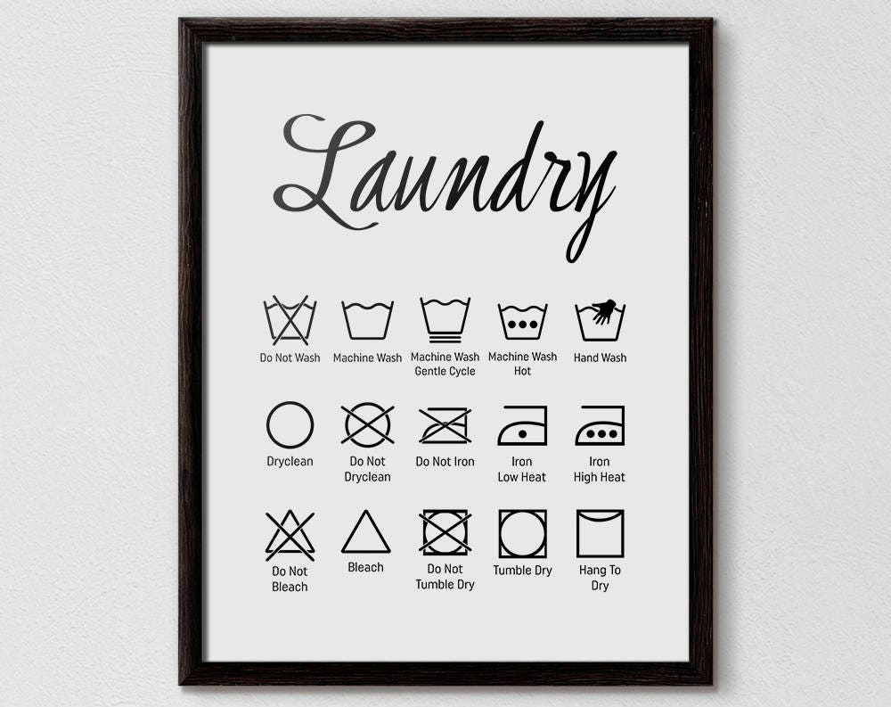 image about Printable Laundry Symbols named Laundry Symbols, Laundry Brand Chart, laundry area strategies