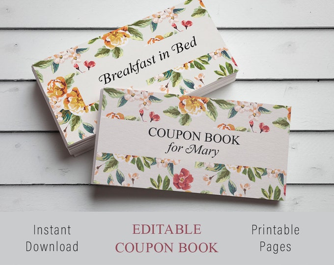 Wife Gift, Wife Valentines Gift, Wife Birthday Gift, Wife Personalized, coupon book, love coupon book, love you gift, love coupon, DIY Gift