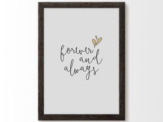 Forever And Always Always And Forever Always Forever Sign Etsy