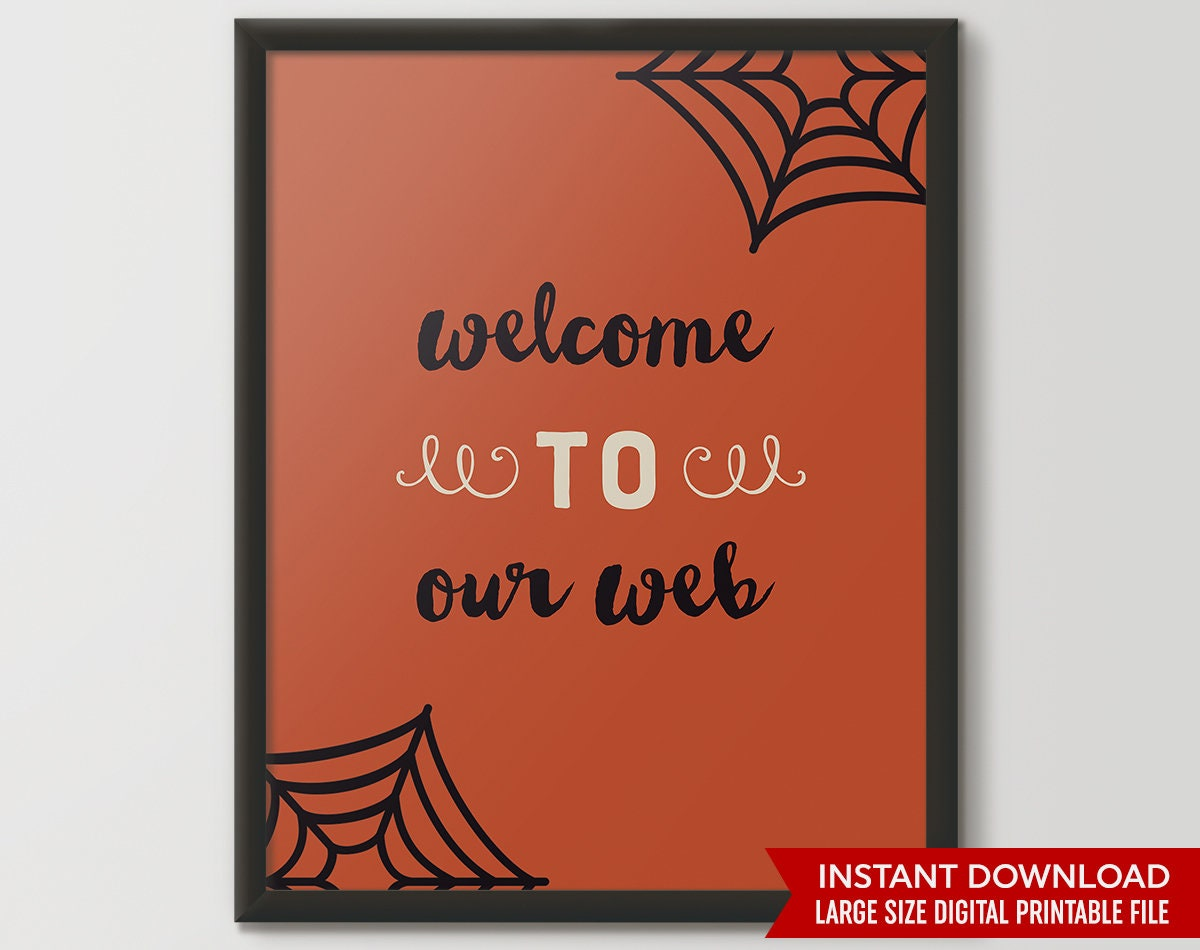 photograph relating to Happy Halloween Signs Printable known as Halloween Indication, Welcome Indication, halloween decor, halloween