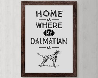 Dalmatian Art Print, Dalmatian Watercolor, Dalmatian Wall Art, Dalmatian Drawing, Dalmatian Lovers, Dalmatian Wall Decor, Dog Poster, DP17