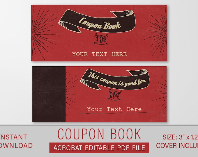Last Minute Valentines Gift, Personalized Guy Gift, Valentines Day Love Coupons Gift, Coupon Book