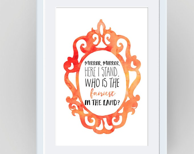 Snow White Printable, Snow White Birthday, Disney Quote, Snow White, Nursery Print, girl room decor, bedroom wall decor, snow white quote