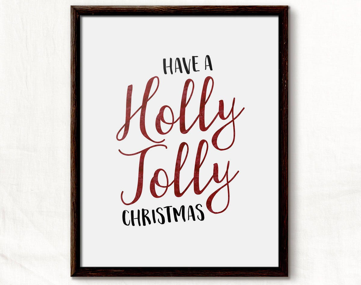 Christmas Decor, Holiday Decor, Holly Jolly, Christmas Decoration ...