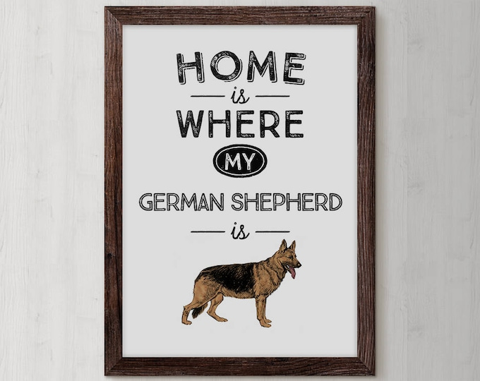 German Shepherd, Dog Lovers Gifts, German Shepherd Sign, Dog Lover Gift Idea, Dog Birthday, Dog Mom Gifts, Dog Memorial Gift, Dog Lover Home