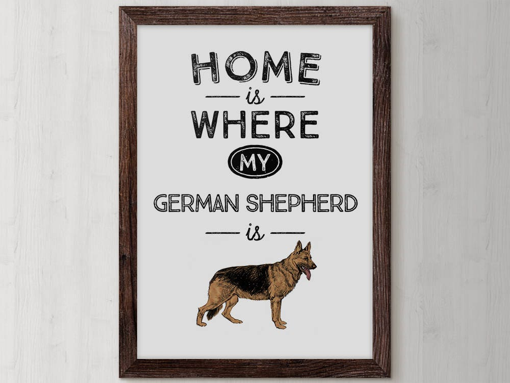 German Shepherd Dog Lovers Gifts Sign Lover Gift Idea Birthday Mom Memorial Home