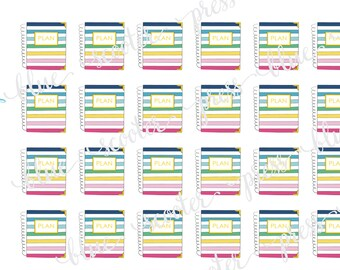 Hand Drawn Emily Ley Happy Stripe Simplified Planners Sampler. 24 MATTE Stickers.
