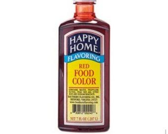 Red Food Color Editable Food color Happy Home Food Coloring Icing coloring Sugar Cookie Glaze Color 7oz