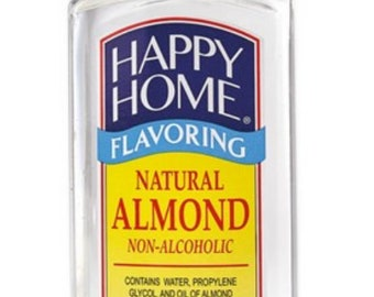 Happy Home Natural Almond 7oz baking flavoring, lollipop flavor,marshmallow flavoring,Extract,almond extract