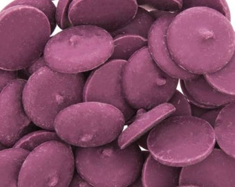 Purple Chocolate flavored candy wafers melts coco bombs