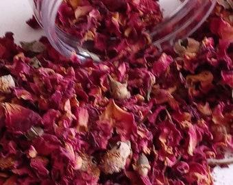1 oz Red Rose Petals & Buds Dried Flowers Organic Editable Potpourri Bath Sachets Tea Craft Crafting Botanical Herbs 1 oz 1st Quality No. 1