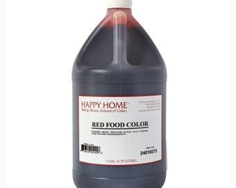Happy Home 1 Gallon Red Food Color|Blue Food Dye|Yellow Editable color|Green Commercial Bakery Food Colorant 1 Gallon