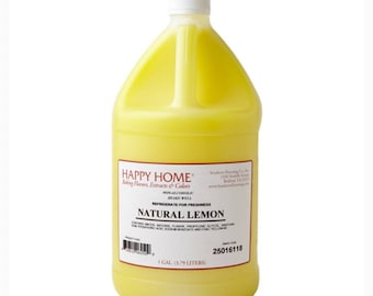Happy Home 1 Gallon Food Flavor| Food Flavoring|Natural Food Flavoring| Commercial Bakery Flavors|Gallon Extract| Baking Emulsion