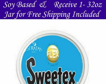Fast Shipping Buy 3-32oz Jars Sweetex Golden Flex Hi-Ratio Shortening Soy Based & Get 1 -32oz Jar Free