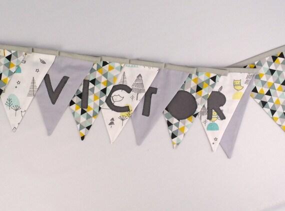 Garland vlaggen aangepaste naam charly deco kamer baby banner etsy