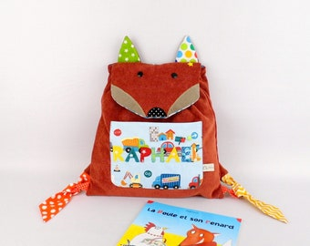 Raphael Fox Briefcase first custom backpack back to kindergarten school bag backpack baby customizable name colors