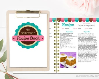 black and white recipe book template editable recipe pages
