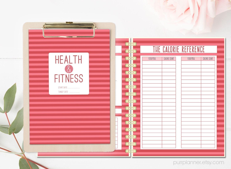 Salud y fitness para imprimir planificador diario semanal de
