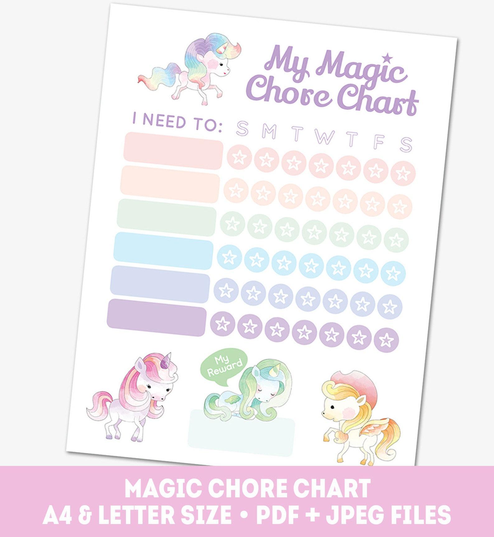 reward chart template for kids | Toddler reward chart