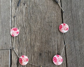 Thread Cutter Necklace- Modern Garden