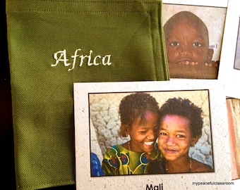 Children of Africa Images printed on Banana Paper Card Stock