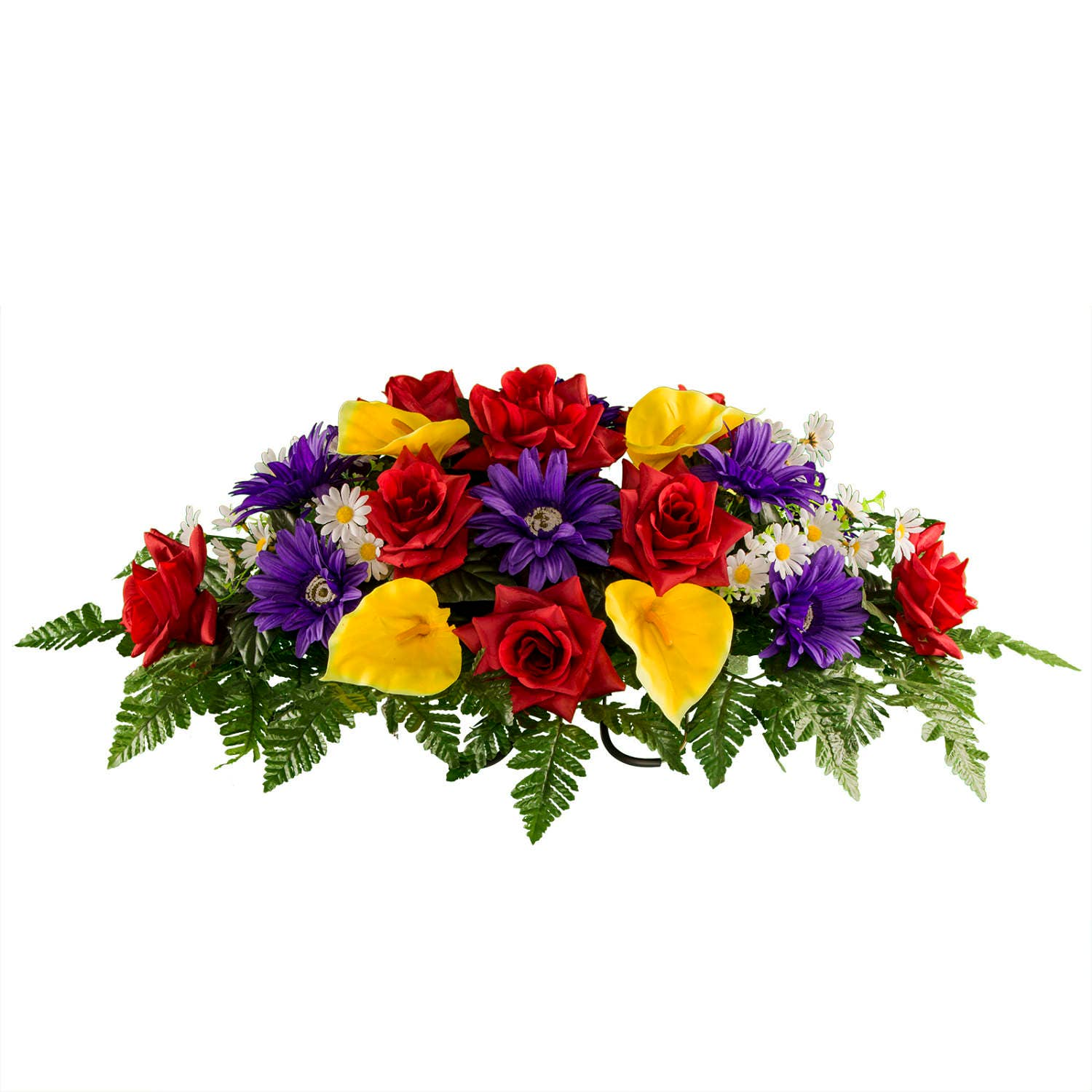 Red Rose And Yellow Anthurium Cemetery Saddle Summer Etsy