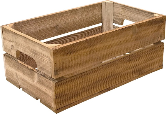 Shallow Wood Crate Wall Mount Or Stackable