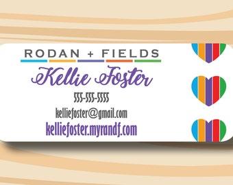 rodan fields sticker address labels printed stickers etsy
