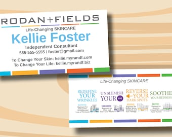 Business cards rodan and fields etsy rodan fields business cards two sided business card printed cards only colourmoves