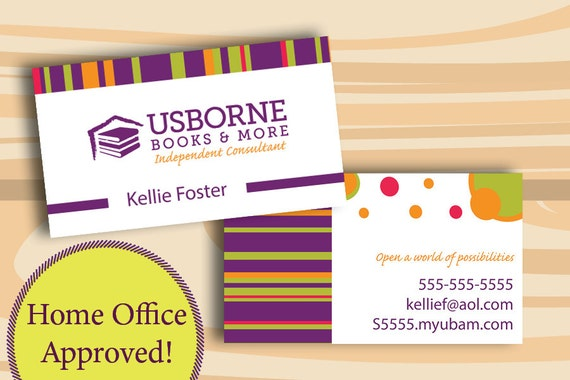 Usborne Business Cards PRINTED CARDS ONLY Two Sided Business Etsy