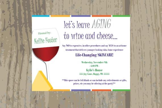 Rodan And Fields Launch Party Invitation Rodan Fields Wine Etsy