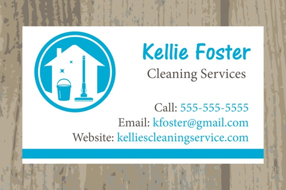 Cleaning Service Business Cards Housekeeping Business Etsy