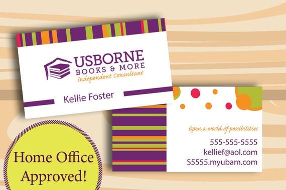 Usborne Visitenkarten Digitale Datei Nur Zwei Doppelseitige Visitenkarte Home Office Genehmigt