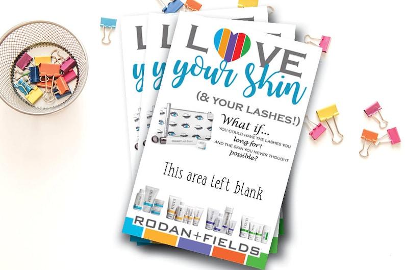 Rodan and Fields Handout  Rodan Fields Marketing Flyer  Lashboost  R F Ad  Skin Care Business  Regimens  INSTANT DOWNLOAD