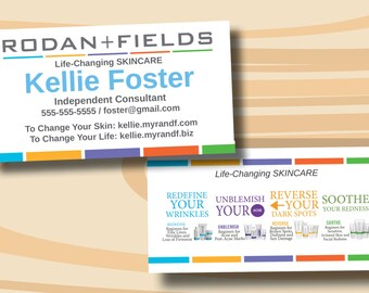 Rodan + Fields Business Cards Two Sided Business Card PRINTED CARDS ONLY