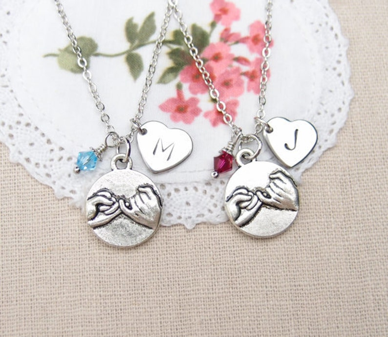 friends jewelry shrimp charm necklace sister necklace bff necklace Friendship necklace best friend necklace personalized necklace