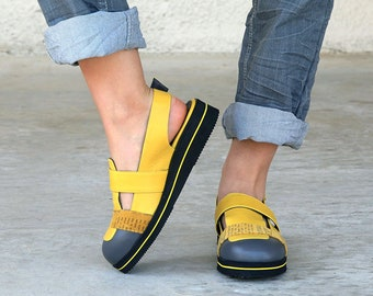 7de3affa93ac Yellow Leather Sandals