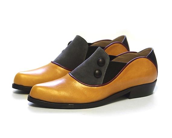 Women's Mustard leather shoes Mustard