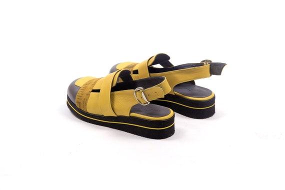 Sandals Sandals Women's Wide Toe Sandals Flat Yellow Summer Close Designer Sandals Cutout Shoes Leather Sandals Sandals Leather Yellow Aq1Wwn5Txv