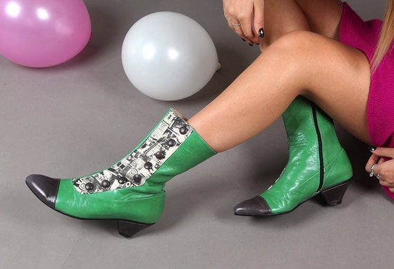 boots Zipper button leather women boots designers boots winter Low and Green Unique for green heels grey Women's boots boots shoes shoes ZfrHZ