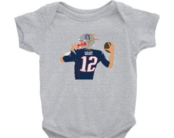 Tom Brady GOAT Infant Bodysuit 2b878aaa4